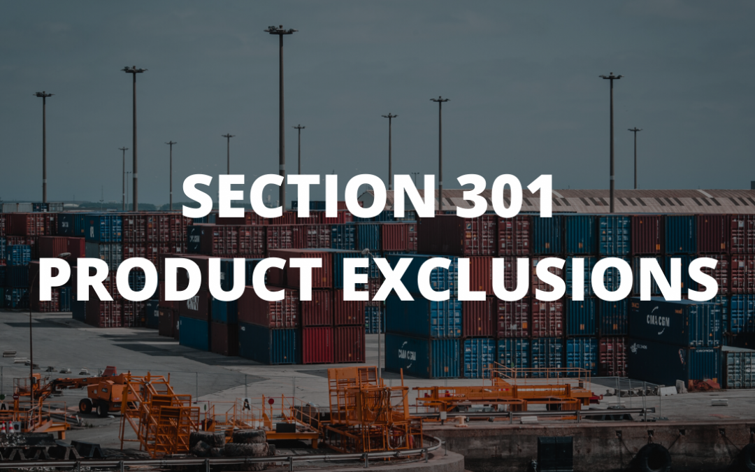 New Section 301 Product Exclusions Announced