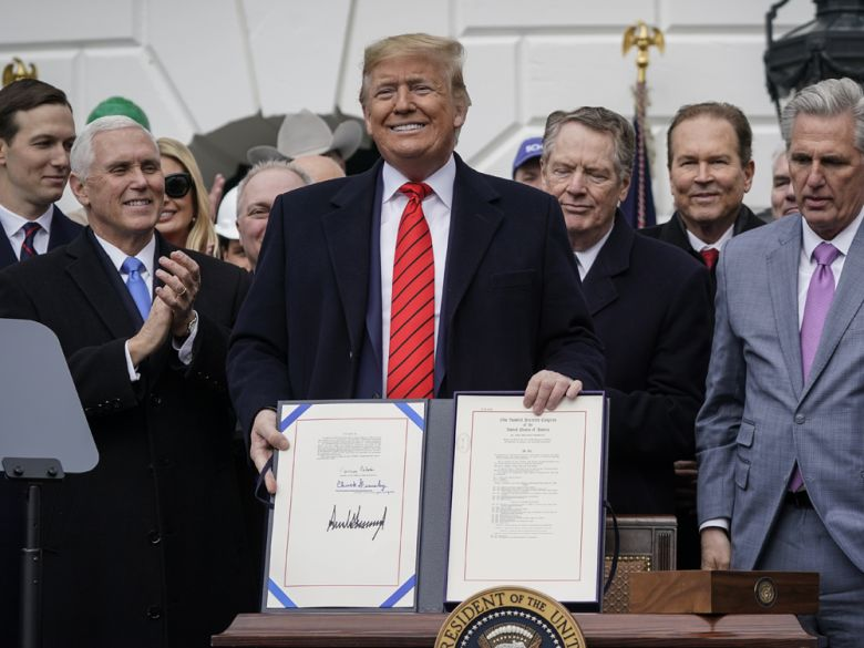 Trump signs USMCA, leaving Canada as the last country yet to ratify North American trade deal